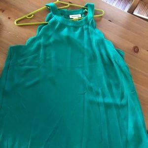 Size medium scalloped green top